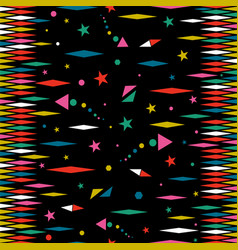 holiday party color stars seamless pattern art vector image