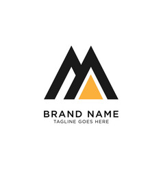 initial m logo design inspiration vector image