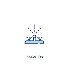 Irrigation concept 2 colored icon simple line vector