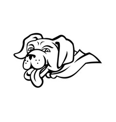 labrador retriever dog wearing cape mascot vector image