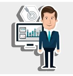 man screen icon vector image