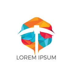 mining logo design vector image