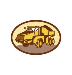 Mining Tipper dumper dump truck vector image