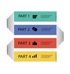 modern info graphic element vector image