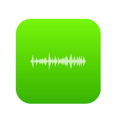 musical pulse icon digital green vector image