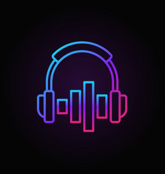 on-ear headphones with equalizer colored vector image
