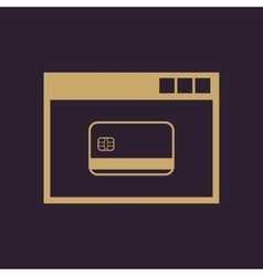 Online payment icon design Online payment vector image
