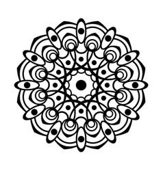 Oriental silhouette ornament vector