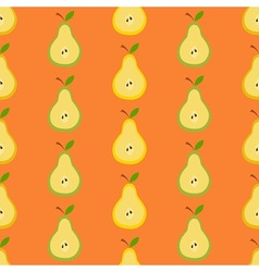 Pears in flat design vector image