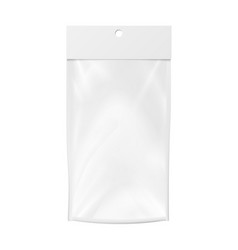 plastic pocket blank realistic mock up vector image