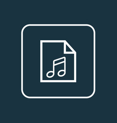 Play list outline symbol premium quality isolated vector