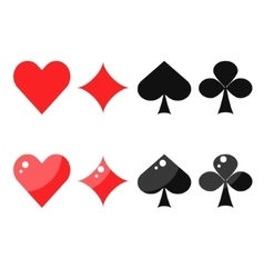 Playing card suits spades hearts diamonds vector