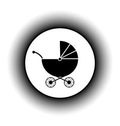 Pram button vector image