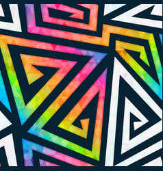 Rainbow maze seamless pattern vector