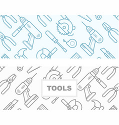 seamless pattern with construction tools icons vector image