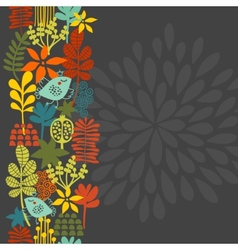 Seamless vertical pattern with bird in crown vector