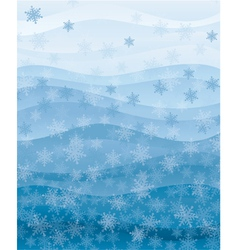 Snowflakes wallpaper vector image