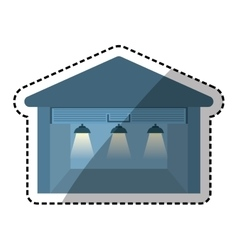 Storehouse delivery building vector