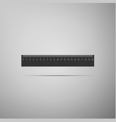 Straightedge symbol ruler icon on grey background vector