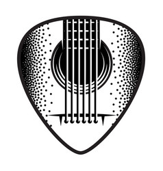 stylish monochrome plectrum for guitar vector image