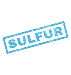 Sulfur Rubber Stamp vector