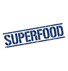 Superfood stamp vector