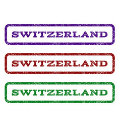 Switzerland watermark stamp vector