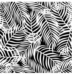 tropical pattern floral background palm leaves vector image