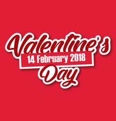 Valentine day 14 feb text image vector