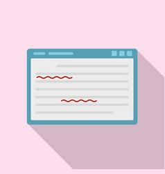 Web editor icon flat style vector
