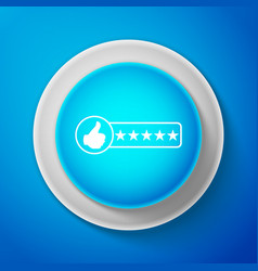 white consumer or customer product rating icon vector image