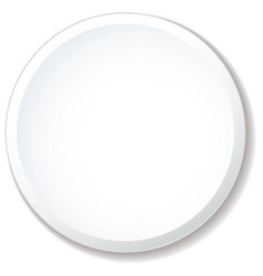 white plate flat vector image