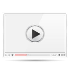 White Video Player vector image