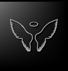 Wings sign gray 3d printed vector