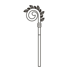 wooden cane icon vector image