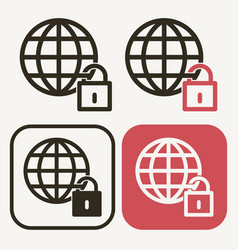 world lockdown icon pandemic effect covid vector image