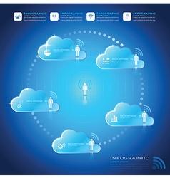 Communication connection cloud shape business vector