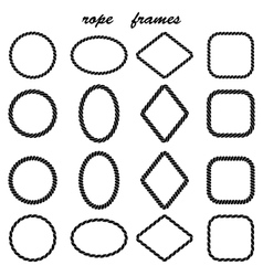 Framework collection of black rope vector image vector image