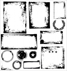 grunge frames and corners vector image vector image