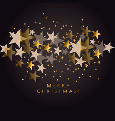 luxury black and gold xmas stars pattern vector image