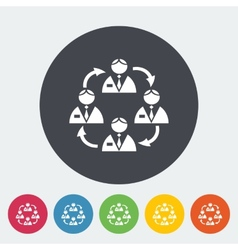 Network flat icon vector image
