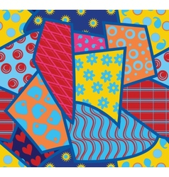 Patchwork seamless background vector image vector image