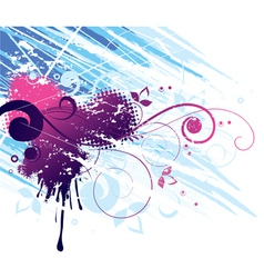 red and blue abstract design vector image