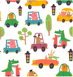 animal car pattern vector image vector image