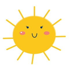 Beautiful Sun isolated on white - cartoon vector image