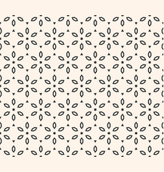 geometric floral pattern ornamental seamless vector image vector image
