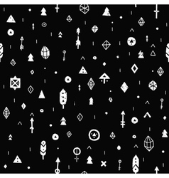 Hand drawn tribal background vector image vector image