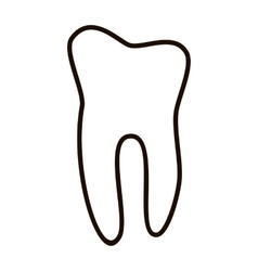 Human teeth icons set isolated on white background vector image vector image