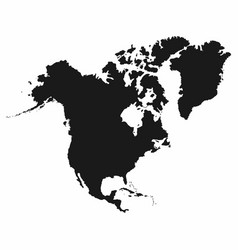 north america map monochrome north america icon vector image