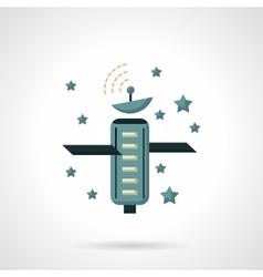 Telecommunication technology flat icon vector